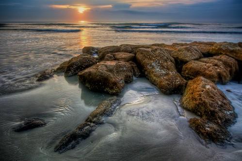 beach sunrise sand rocks flickr florida parks fl a1a anastasiaisland anastasiasp