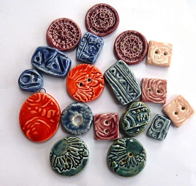 Ceramic beads and buttons