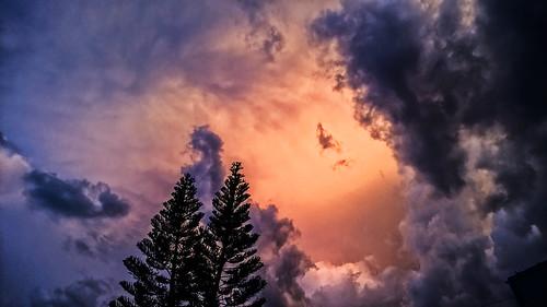 sunset brazil storm brasil grande chuva campo tempestade