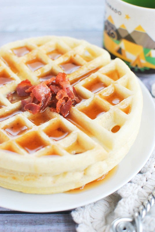 Maple Bacon Yeast Waffles