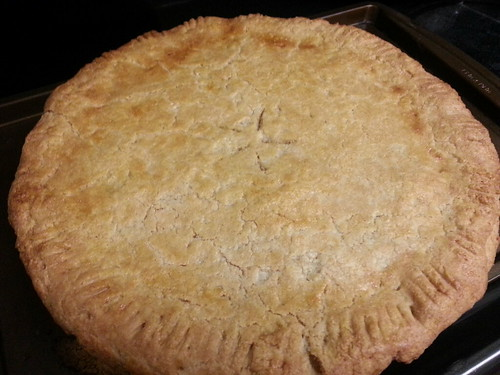 Chicken pot pie - out of the oven