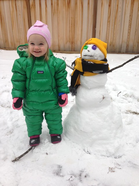 Mary and snowman