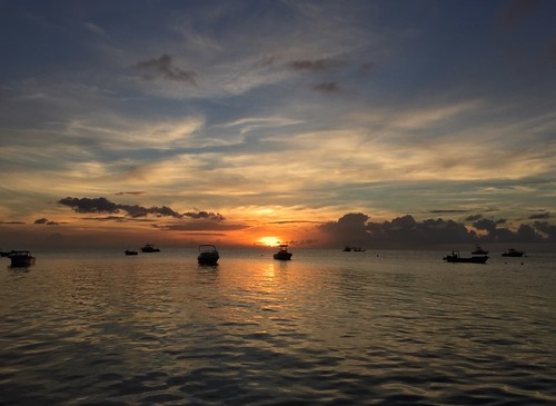 sunset water clouds landscape boats caribbean hdr stkittsnevis iphone6 qualiebeach