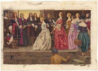 Arrival of the Brides / L'arrivée des Filles du Roi