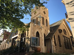 Goodwill Baptist Church, early morning sun, Kalorama Road, Washington, D.C.