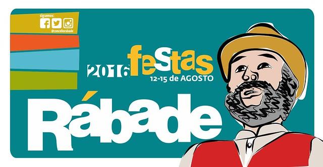 Rábade 2016 - Festas de agosto - cartel