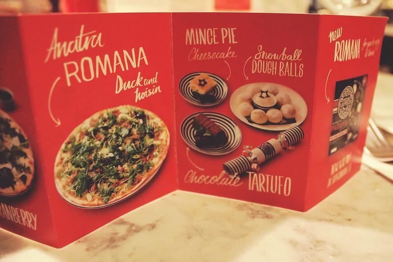 Pizza Express Christmas menu