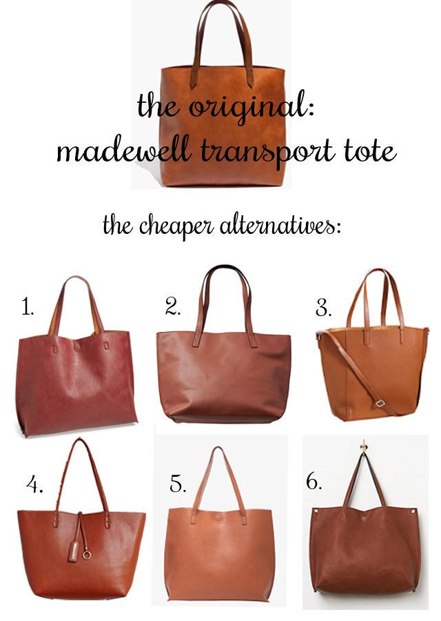 cheap alternative to Madewell Transport Tote