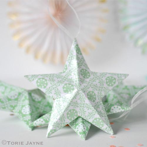 Printed paper stars