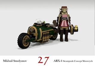 ARX-4 Steampunk Concept Motorcycle (Mikhail Smolyanov - 2012)