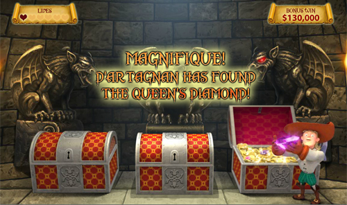 free The Three Musketeers and the Queen's Diamond The Queen's Diamond Bonus Win