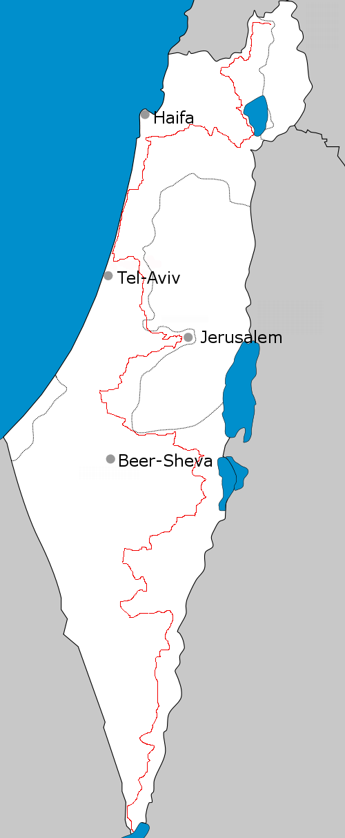 Israel national trail route