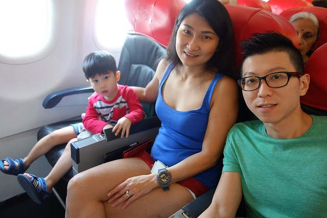 The Choo family picture on AirAsia flight to Bangkok.