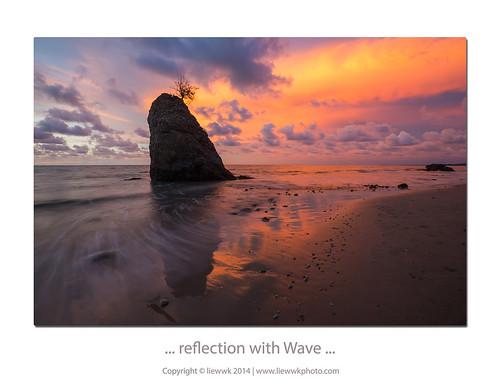 sunset reflection beach landscape dusk wave malaysia kuala sabah pantai cpl kualapenyu penyu leefilter liewwk liewwknature pantaibatuluang