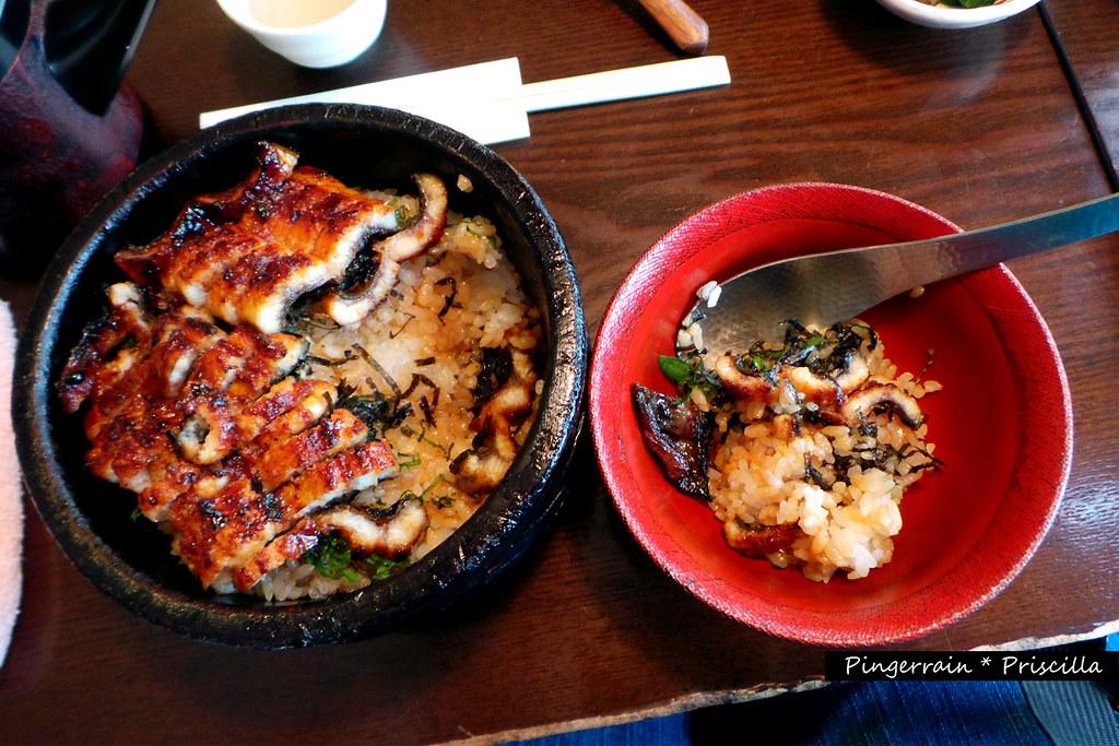 Unagi rice tub and bowl