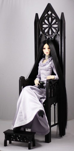 Gothic throne model 02 for bjd 70+