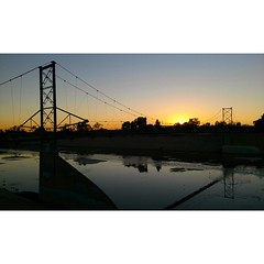 """one of many """"oil bridges"""" piping oil between fields and refineries here in #longbeach .. #running #LAriver"""