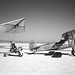Paresev 1-A on Lakebed with Tow Plane by NASA on The Commons