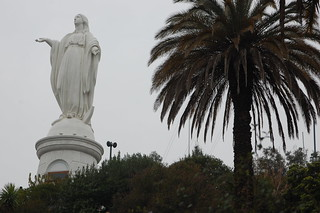 Statue of the Virgin Mary on Cerro San Cristobal, Santiago Chile