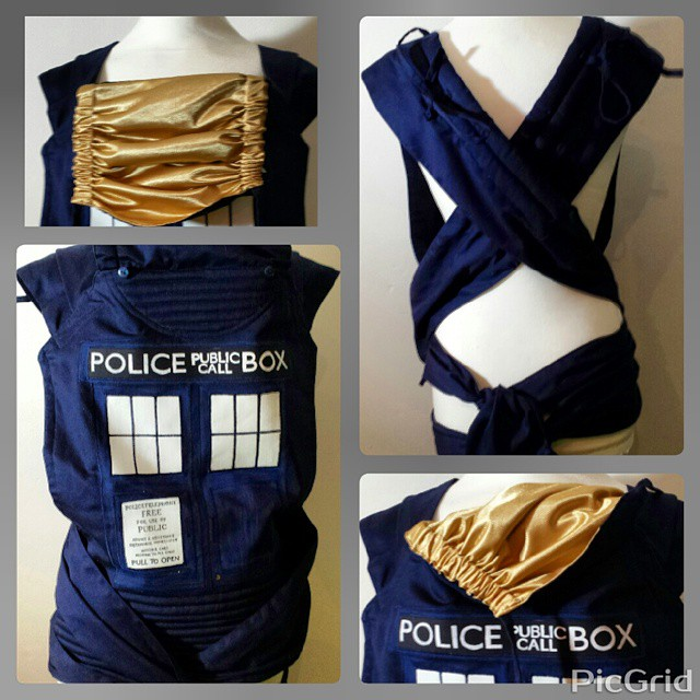 Tardis baby carrier