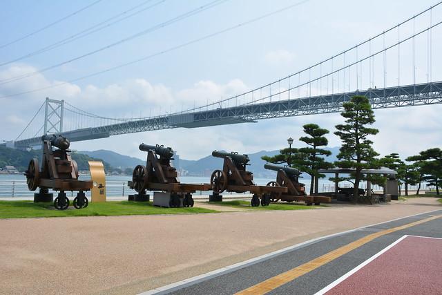 関門橋(下関側)