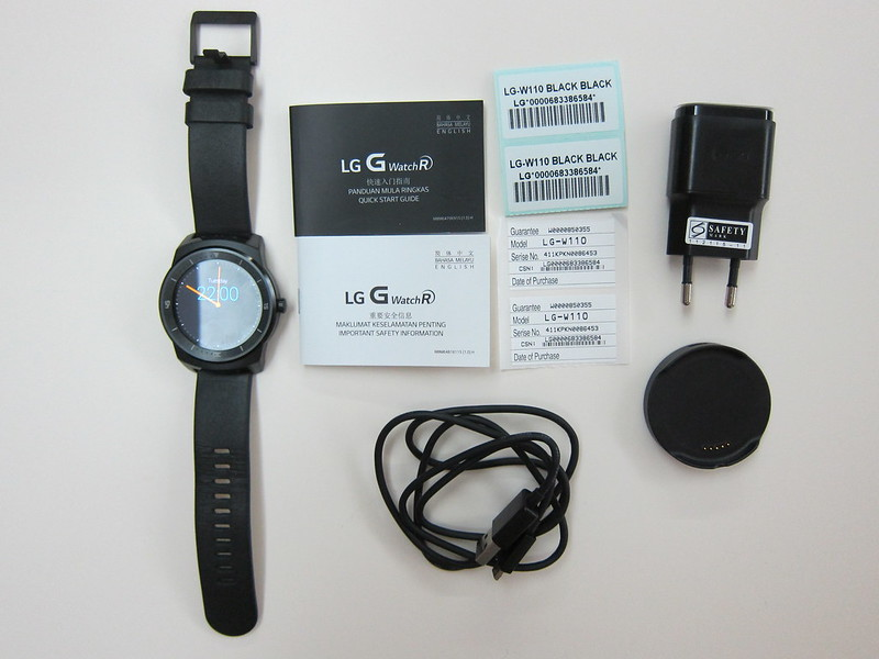 LG G Watch R - Box Contents