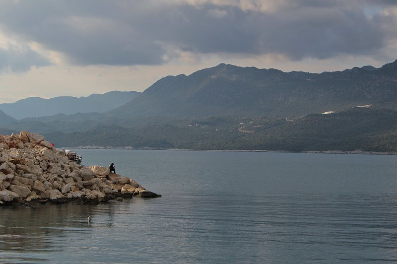 Man on rocks, Turkey
