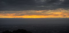 The sky is on fire - at Mount Hamilton Grandview Restaurant