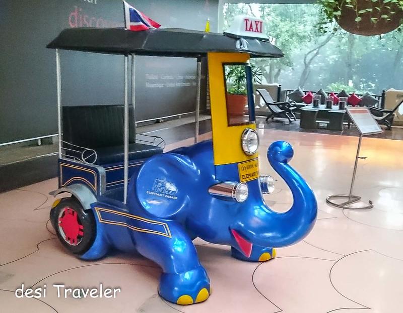 Elephant theme Tuk Tuk in Bangkok Thailand