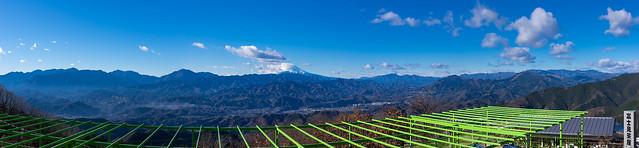 陣馬山からのパノラマ
