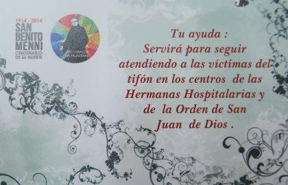 """El Centro Hospitalario Padre Menni organiza  el Festival Solidario """"SOS Filipinas"""""""