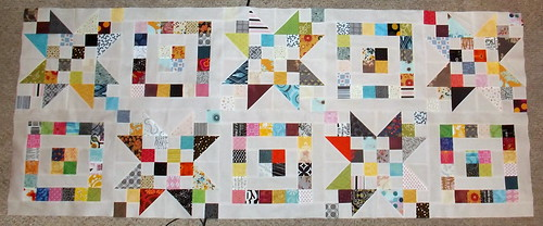 3xS (Scraps, Stars, and Squares) - Two Rows Done