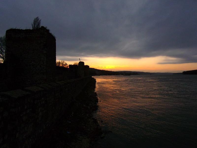 Sunset over Smederevo Fortress