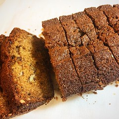 chocolate cake(0.0), whole grain(0.0), chocolate brownie(0.0), baking(1.0), bread(1.0), pumpkin bread(1.0), rye bread(1.0), baked goods(1.0), banana bread(1.0), produce(1.0), food(1.0), brown bread(1.0),