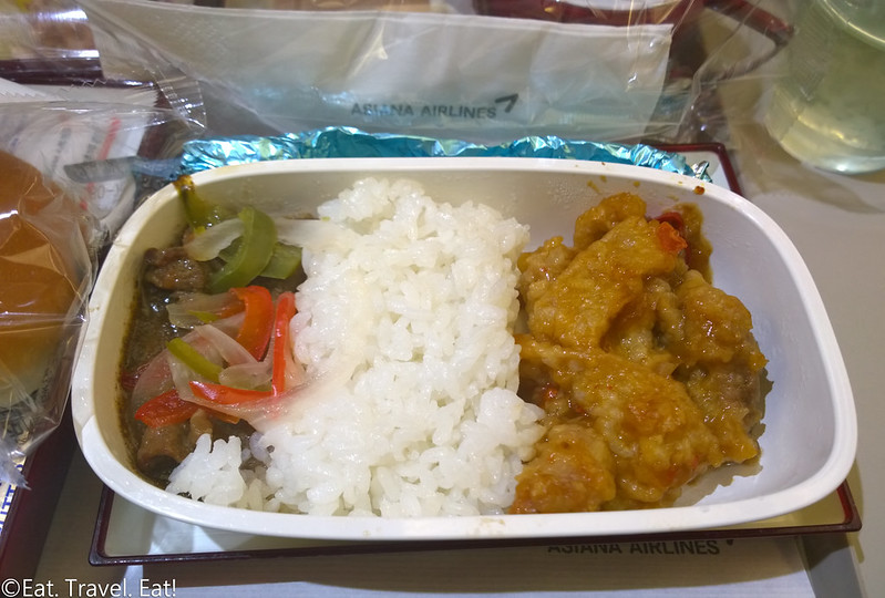 Asiana Airlines ICN-PEK: OZ 333 Beef and Sweet and Sour Pork Entree