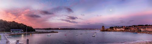 sky panorama seascape color sunrise landscape soleil brittany pano sony bretagne ciel paysage couleur saintmalo lever solidor rx100