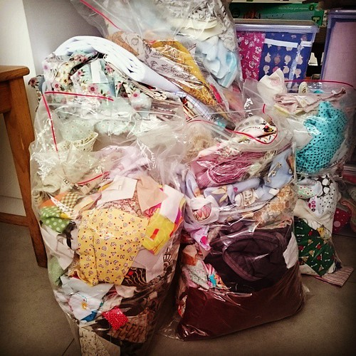 The scrappy state of my scrap bags.