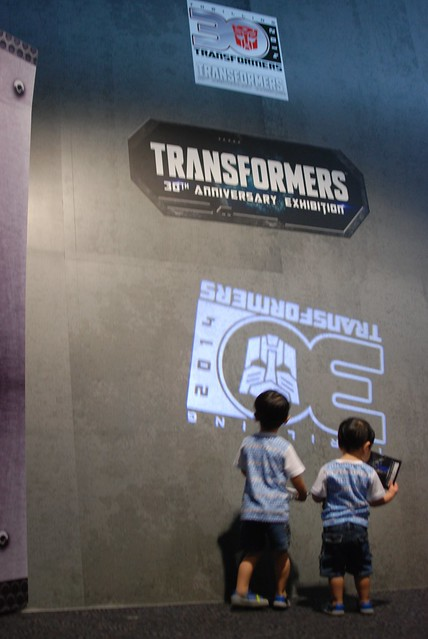 Jerry & Jerome at the Transformers 30th Anniversary Exhibition, Singapore