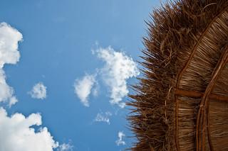 Sonnenschirm, Bahia Principe Tulum, Quintana Roo, Mexico. Foto: Stephan Benz