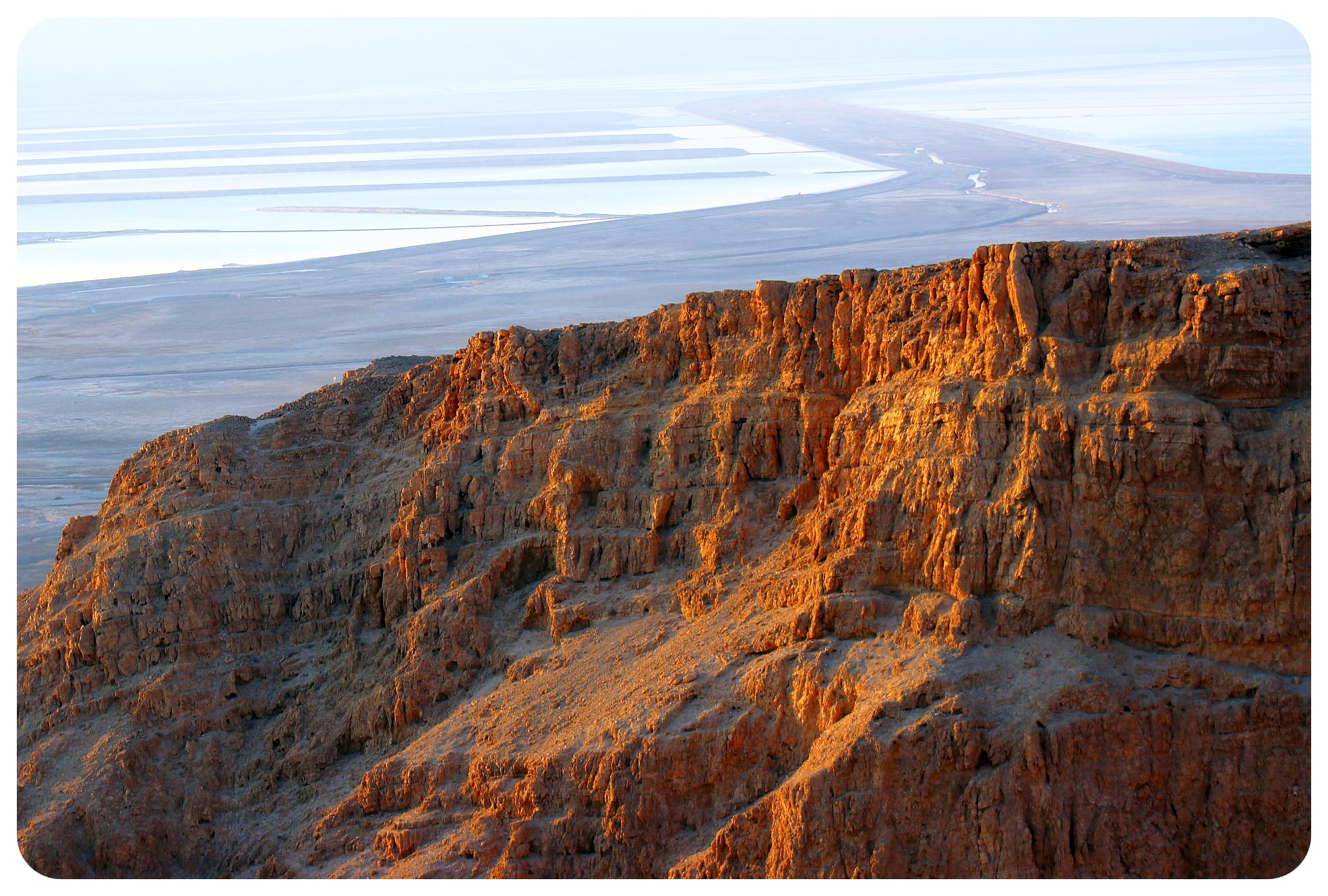 masada plateau at sunrise