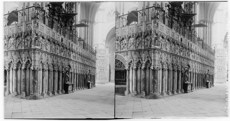 Catedral de Toledo hacia 1900. Fotografía de Alois Beer © Österreichische Nationalbibliothek