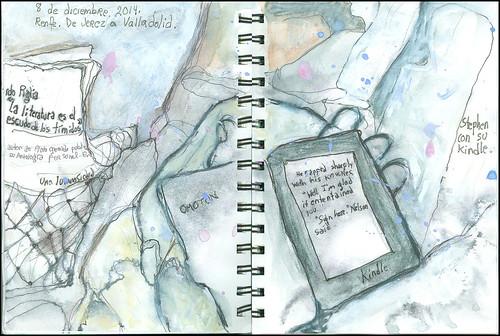 Stephen con su Kindle.  8 de diciembre, 2014.