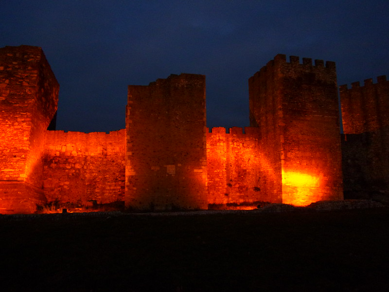Illuminated fortress walls