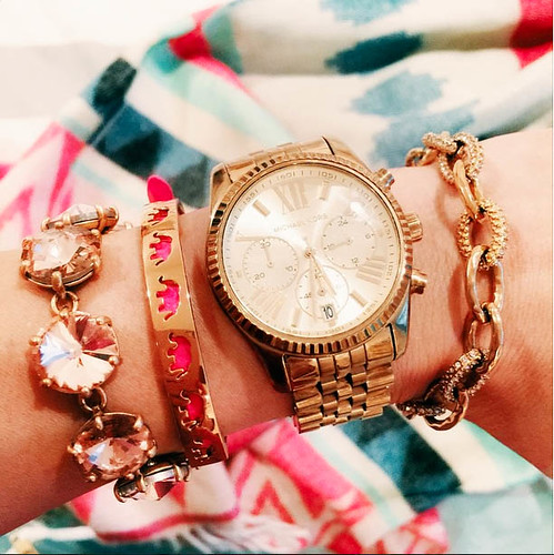 cute & little blog | petite fashion | arm party stack | stella & dot style
