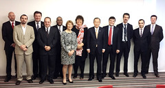 UNOPS Senior Team with The UN Secretary General