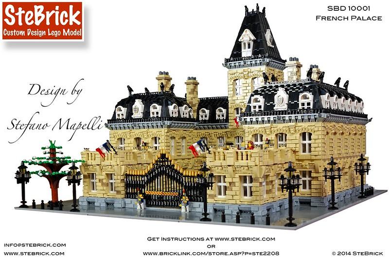Lego Moc 1392 Modular French Palace Modular Buildings 2014