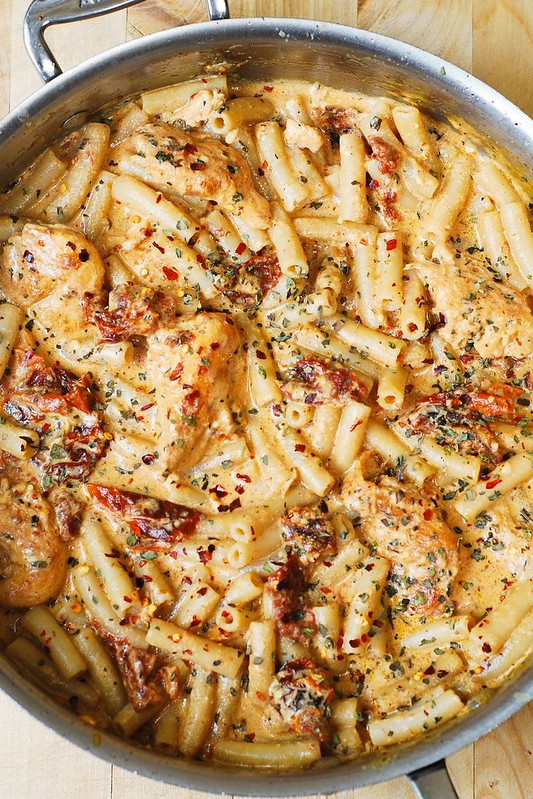Easy chicken pasta recipes with tomatoes