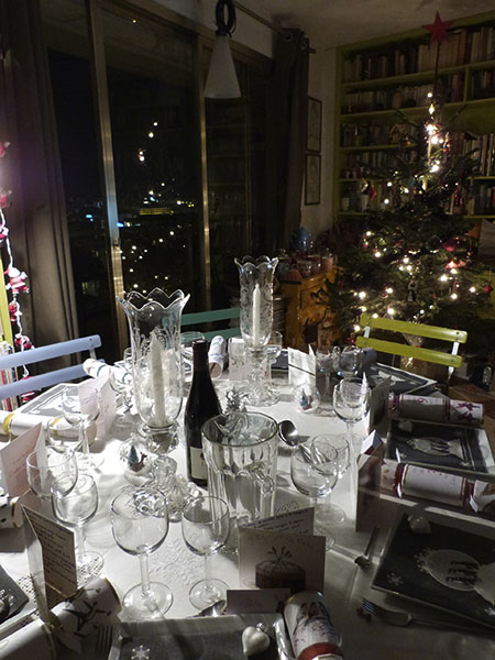 table de noël, la nuit