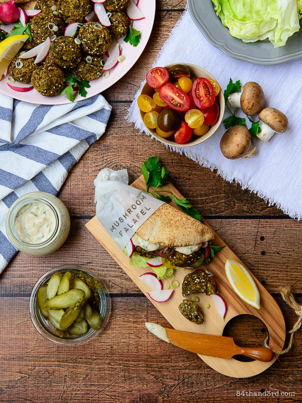 Mushroom Falafel
