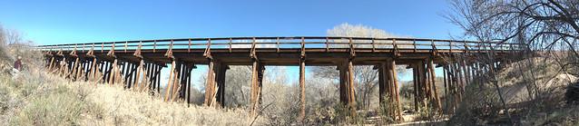 Wood Railroad Bridge Pano